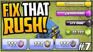 60 Million LOOT! GEM, MAX, FIX That Rush - Clash of Clans Town Hall 12 #7
