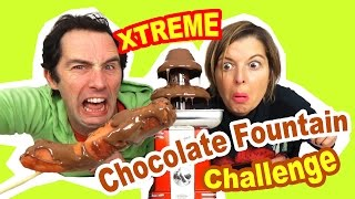 EXTREME chocolate Fountain CHALLENGE en couple - 10 INGREDIENTS TERRIBLES !