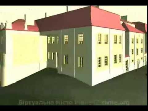 Lubomirski castle in Rivne (3D)
