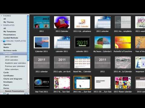 Create A Calendar In Powerpoint For Mac 2011 - Youtube
