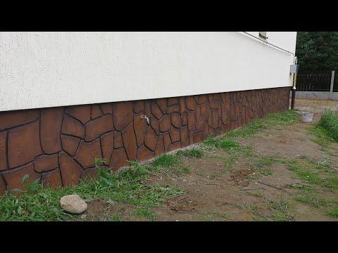 Как украсить фундамент дома своими руками фото