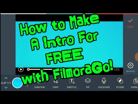How to Make A Intro For FREE with FilmoraGo! - THE BEST INTRO MAKER APP ON  IPHONE & ANDROID!