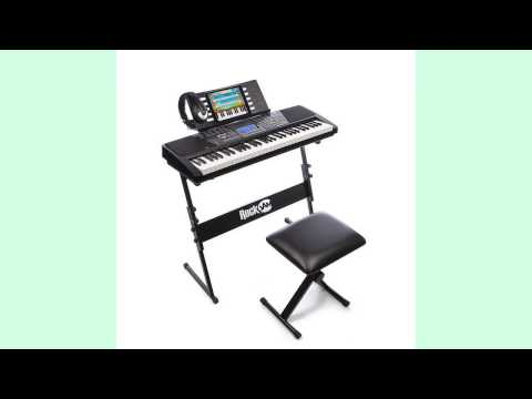 electronic keyboard piano | RockJam 61 Key Electronic Keyboard SuperKit REVIEW