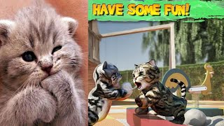 Play Fun Pet Care Kids Game - Fun Cat Simulator | Games for Girls - Fun Cute Kitten For Children