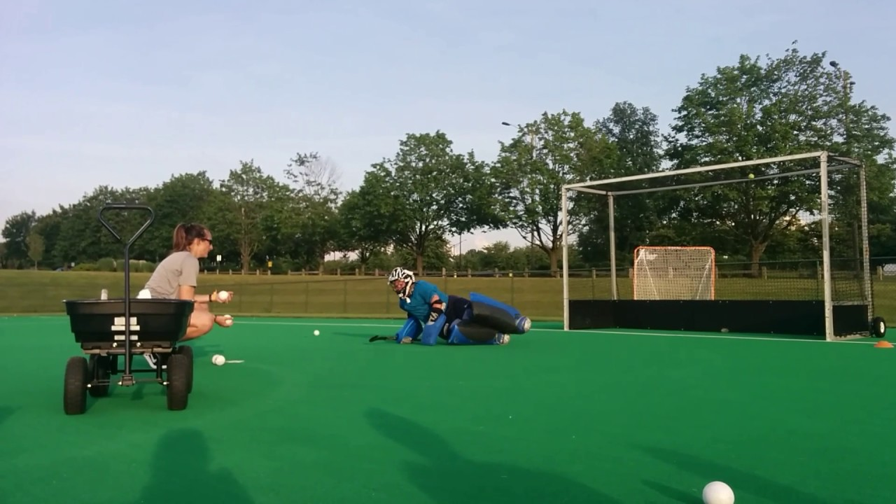 Field Hockey Goalie Beginner Dive Drill Youtube