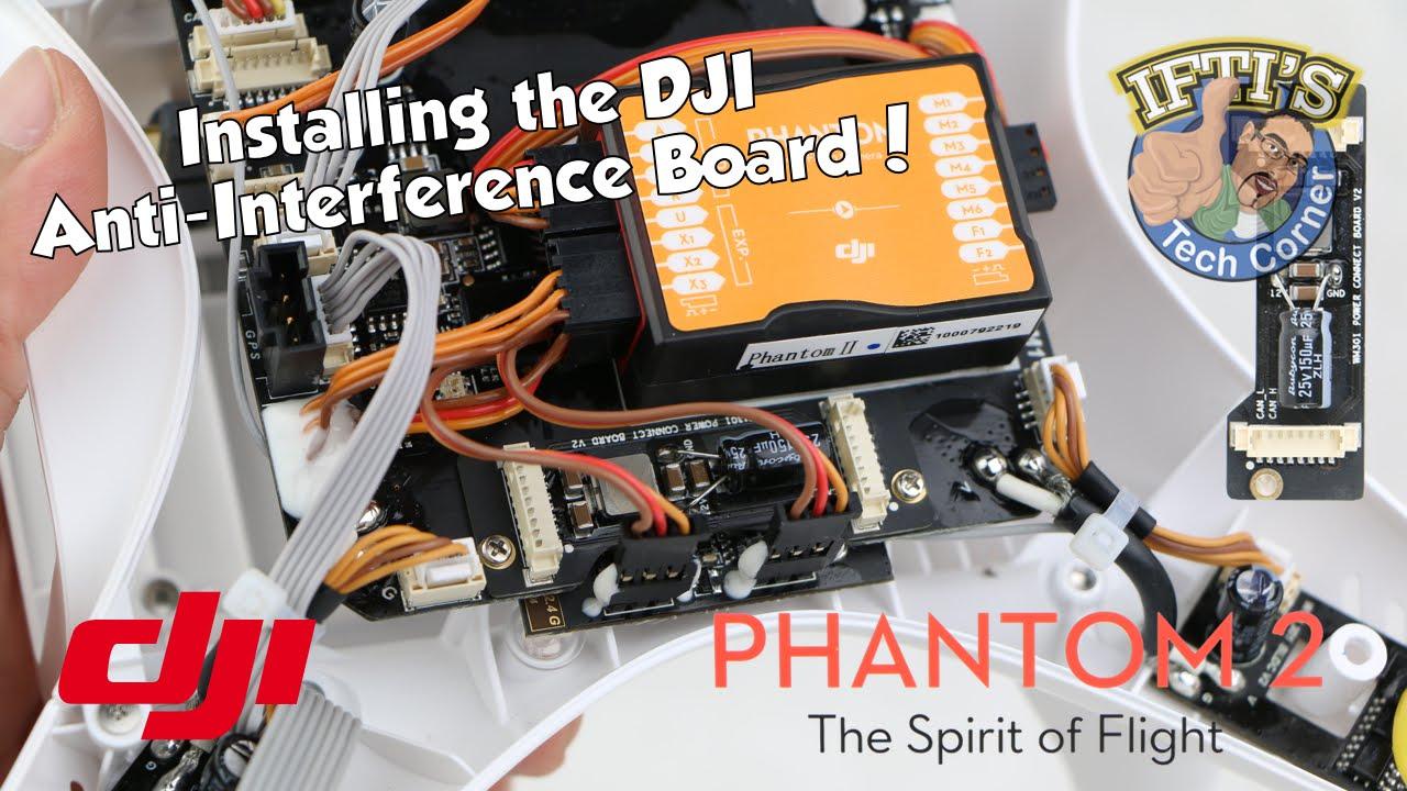 hight resolution of  4 dji phantom 2 anti interference board installation guide youtube