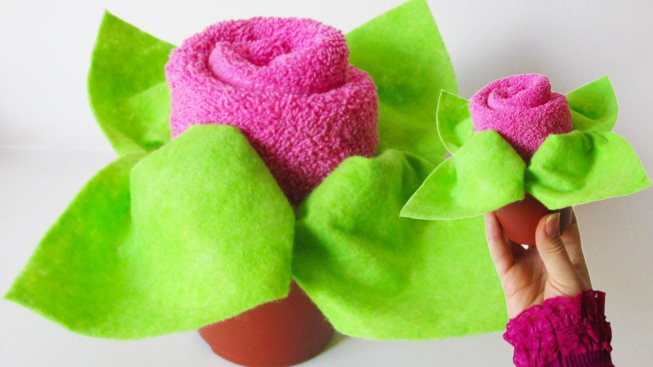Diy Towel Folding Rose Washcloth Flower Tutorial Baby Shower