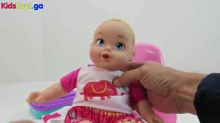 Toys R-US - Baby Doll Potty Training Diaper Change Dolls Poop Potty Time Babies Toy Videos - Baby