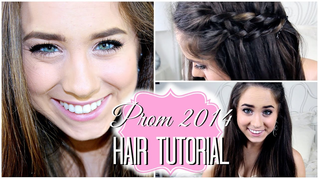 Prom 2014: Twisted Waterfall Hair Tutorial. - YouTube