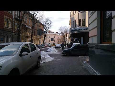 Beautiful street in Lviv, Ukraine