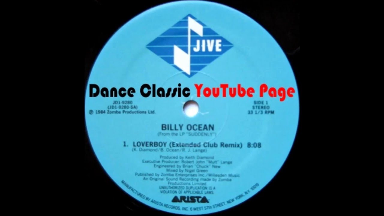 Billy Ocean - Loverboy (Extended Club Remix)