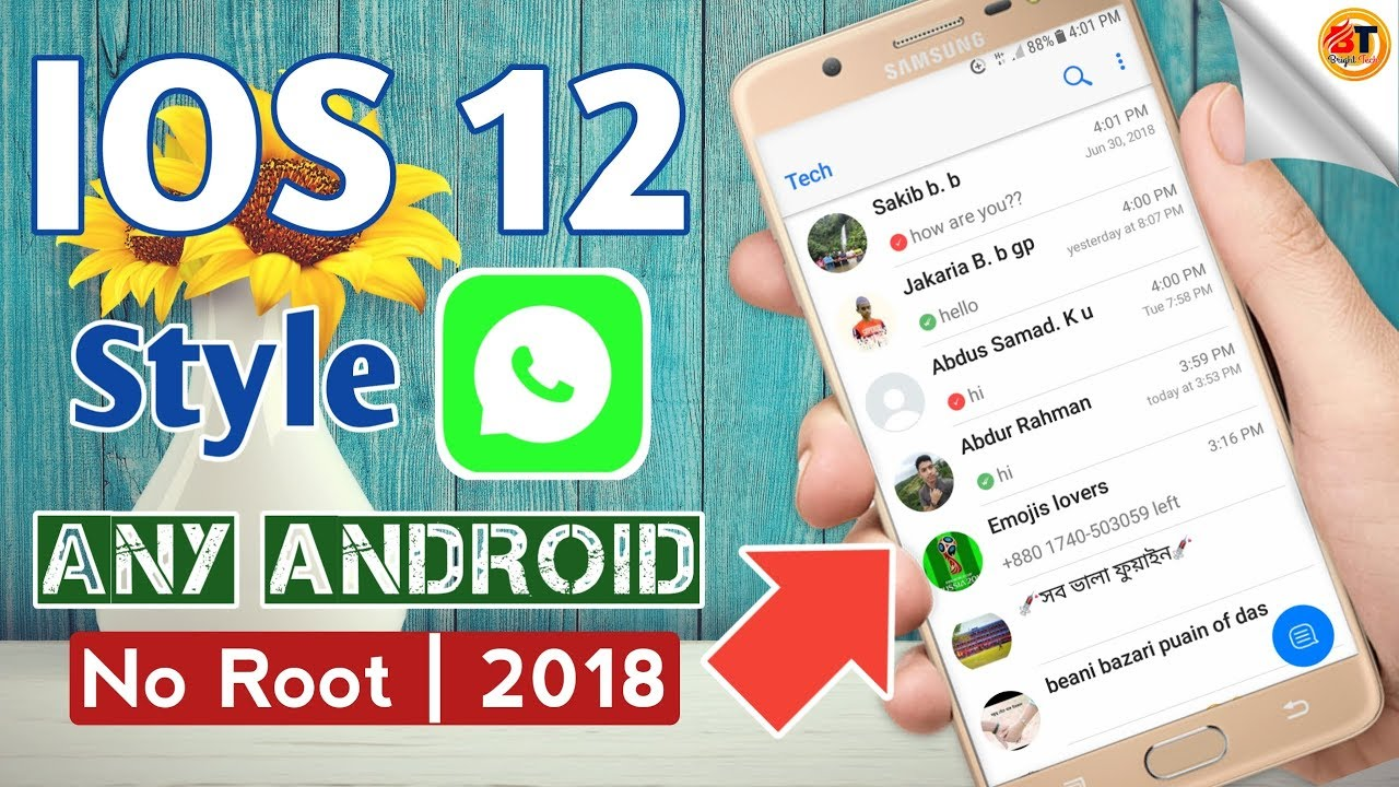 Download How to Install iOS 12 Style WhatsApp on Android