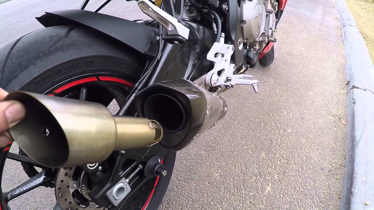 s1000r slip on full akrapovic db killer avec et sans. Black Bedroom Furniture Sets. Home Design Ideas