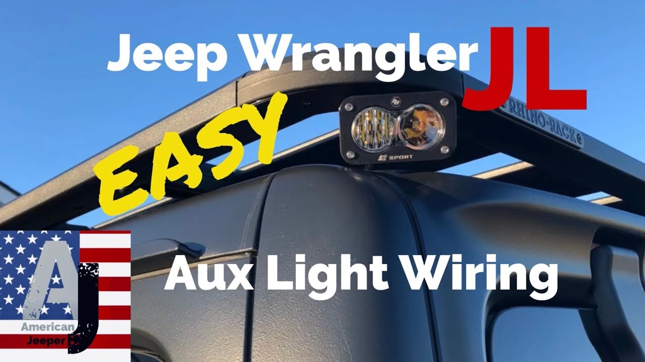 jeep wrangler jl auxiliary lighting installation [ 1280 x 720 Pixel ]