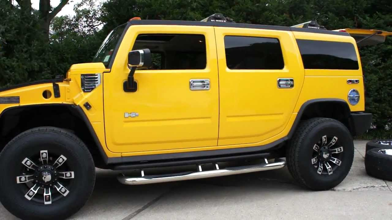 Yellow Hummer H2 For Sale 2 Sets Of Custom Rims Loads Of