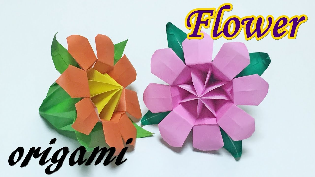 How To Make A Paper 3d Flower Origami Ttutorial Easy But Looks
