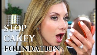 AVOID CAKEY & CREASING FOUNDATION | Foundation Tips from a Makeup Artist
