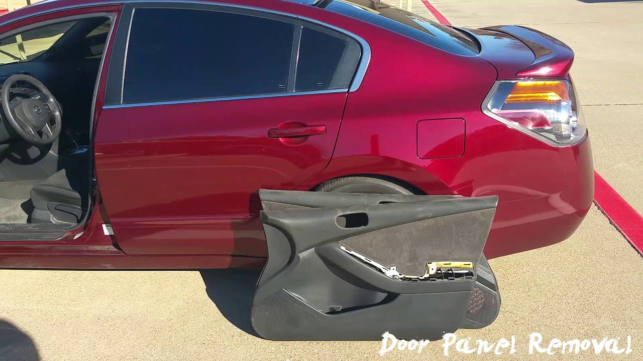 07 12 Nissan Altima Door Panel Removal Tutorial Youtube