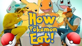 HOW POKEMON EAT FOOD!!