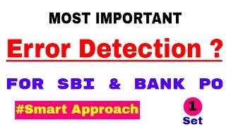 Error Detection And Correction In English For Bank PO [ In Hindi]