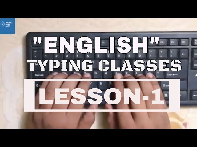 How to learn English Typing at Home | part 1