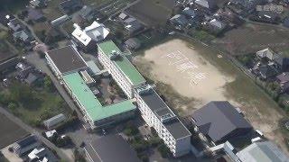 地震で大きな被害を受けた熊本県の避難所となっている学校のグラウンド...