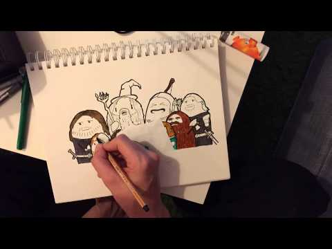 Lord of the rings - Fellowship of the ring Doodle by Nesquick in Time Lapse Part 2/2