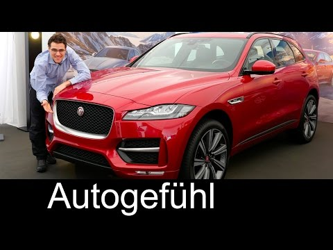 All-new Jaguar F-PACE SUV in-depth PREVIEW exterior/interior 2017 neu - Autogefühl
