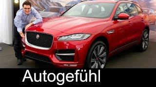 All-new Jaguar F-PACE SUV in-depth PREVIEW exterior/interior 2017 neu - Autogefühl