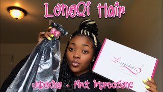 LONGQI HAIR UNBOXING + FIRST IMPRESSIONS | DAYLAWEBSTER