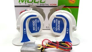 Dual horn unboxing and horn install connection