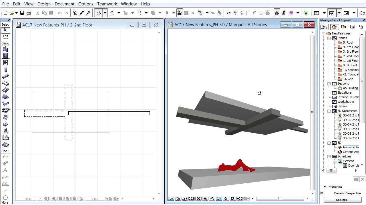 Showing hidden lines of floor plan-based ARCHICAD 3D ...