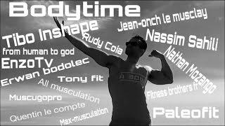 Le défi des  youtubeurs musculation TIBOINSHAPE BODYTIME  Nathanmozango Nassimsahili FROMHUMANTOGOD