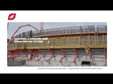 LNG Storage Tanks. El Musel Regasification Plant