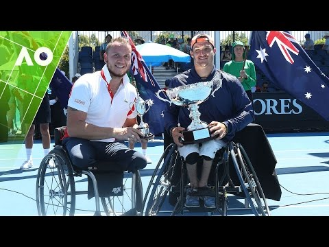 Peifer v Fernandez trophy presentation (Wheelchair Final) | Australian Open 2017