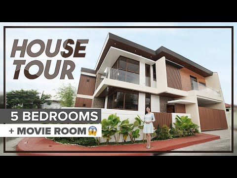 House Tour 14     Beautifully Designed Corner House in Greenwoods Cainta   5 Bedrooms and Movie Room