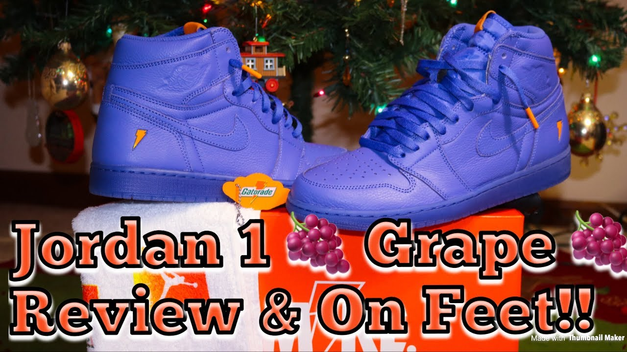 595e8c10fd85 AIR JORDAN 1 RUSH VIOLET GATORADE GRAPE REVIEW   DOPE ON FEET ...