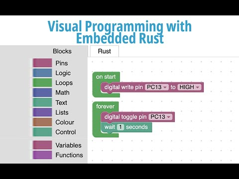 Visual Programming with Embedded Rust? Yes we can with