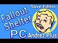 Fallout Shelter PC Save Editor Hack Mod 2017