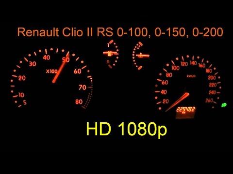 Renault Clio Sport RS 2.0 16v Ph.1 0-100 0-150 0-200 km/h acceleration