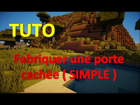 tuto fabriquer une porte cach e minecraft youtube. Black Bedroom Furniture Sets. Home Design Ideas