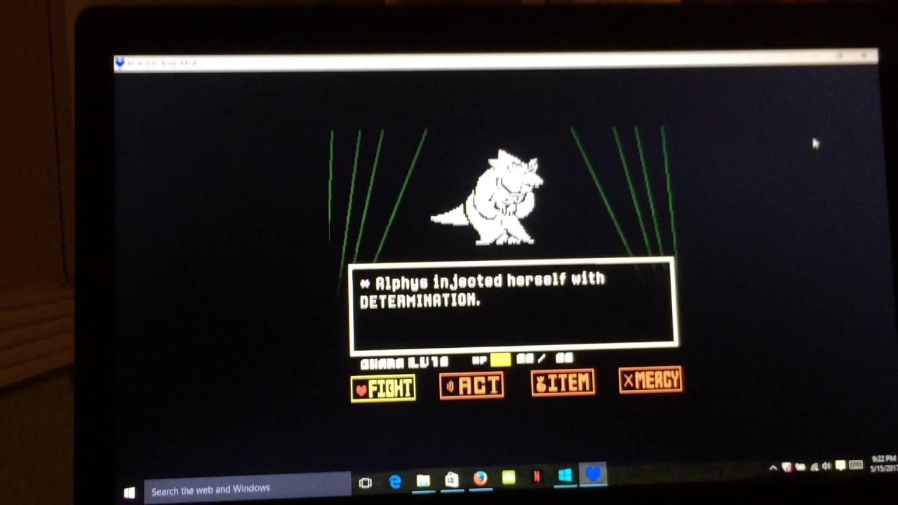 undertale alphys fight simulator