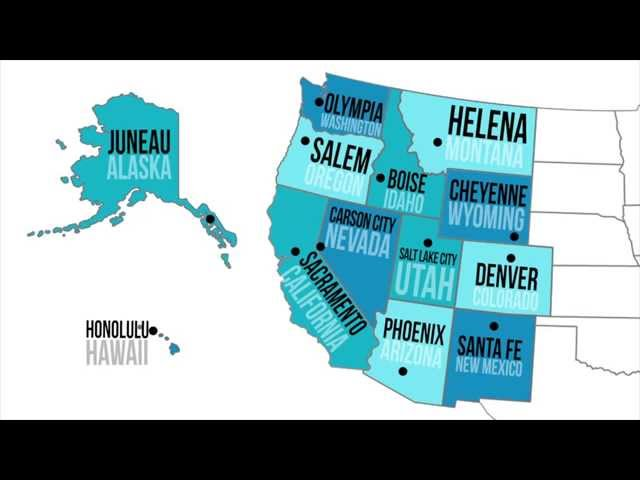 Map Of Western Us States And Capitals - West region states and capitals
