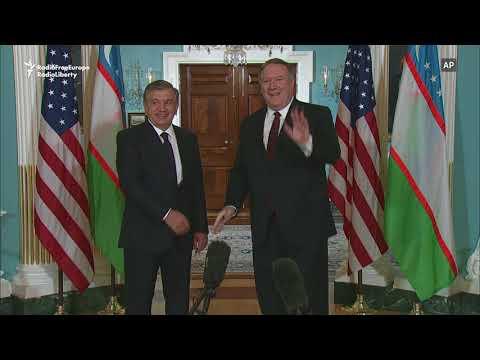U.S. Secretary Of State Receives Uzbek President