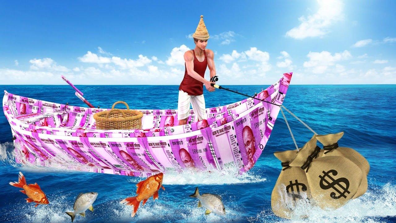 गरीब मछुआरे का नसीब Garib Fisherman Ka Naseeb हिंदी कहनिया Hindi Kahaniya Comedy Video