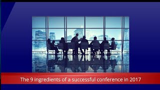 The 9 ingredients of a successful conference in 2017 - Corporate Challenge Events