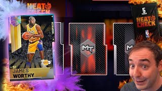 NBA 2K19 My Team NEW GALAXY OPAL JAMES WORTHY! OPENING HEATCHECK PACKS TO MAKE MT!!!