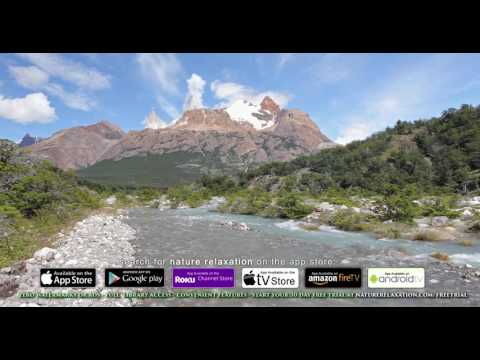4K Real-Time Nature Scene: Patagonian Forest - Mount Fitz Roy, Argentina UHD 1HR