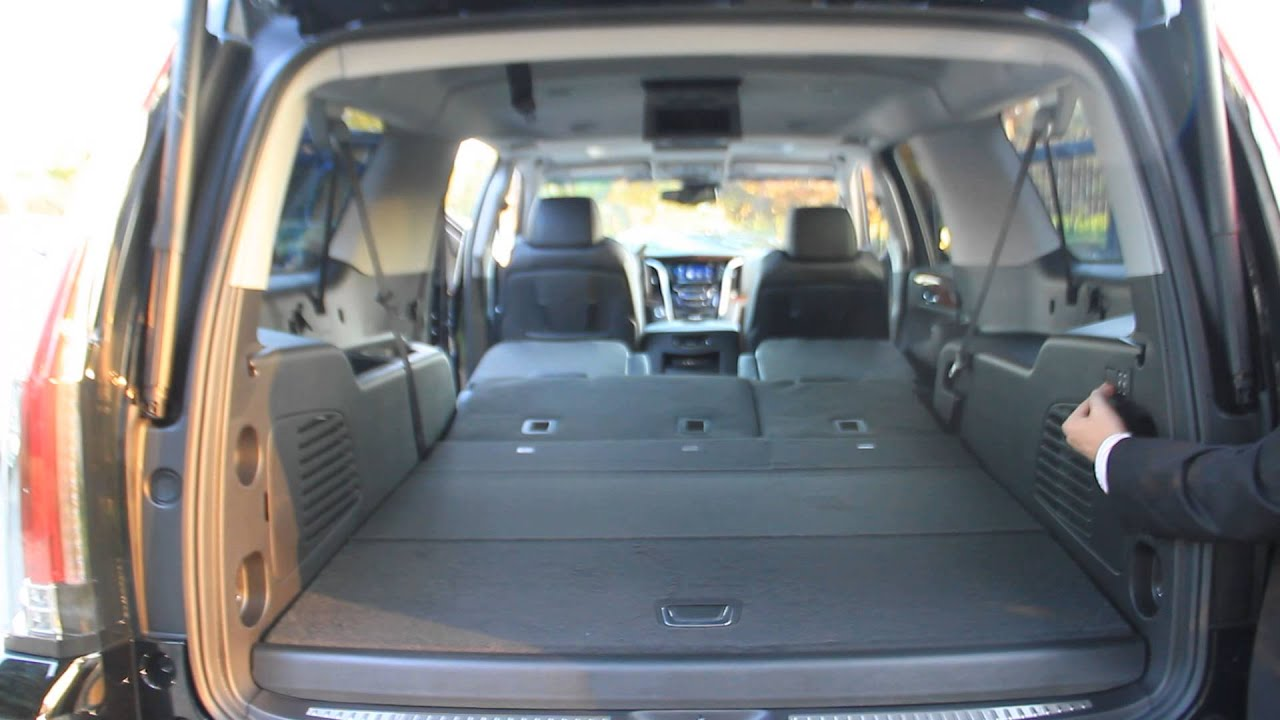 2015 Escalade Power Folding Seats Youtube