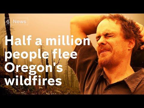Half a million flee Oregon as wildfires rage through US west coast